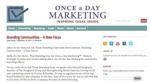 Once a Day Marketing copy